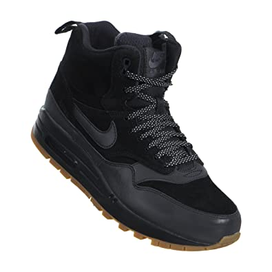 finest selection 13ba9 d71cb Nike Women s Air Max 1 MID Sneakerboot (11.5, Black Gum Medium Brown)