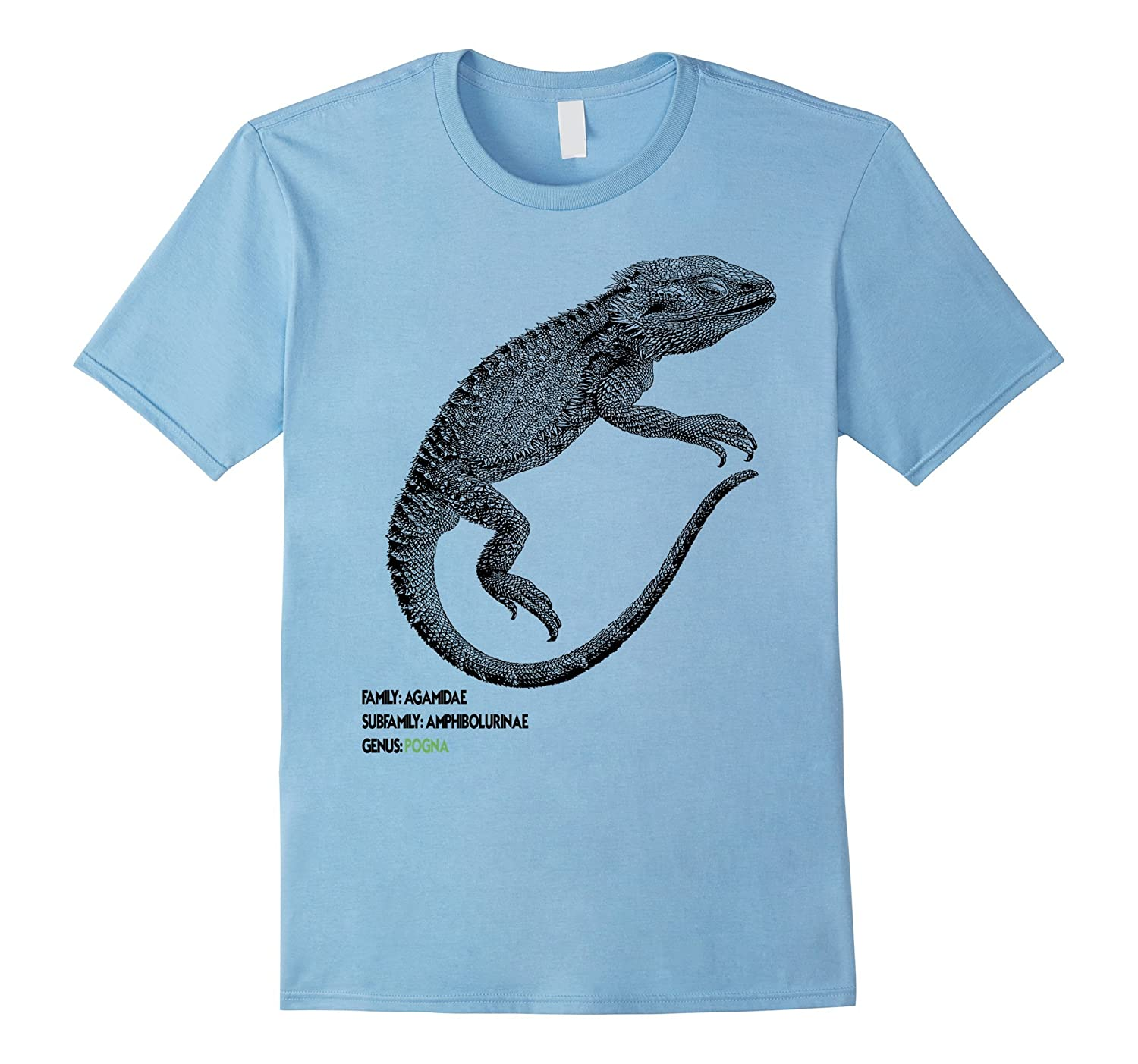 Bearded Dragon Taxonomy Reptile Anatomy Naturalist T-Shirt – Hntee.com