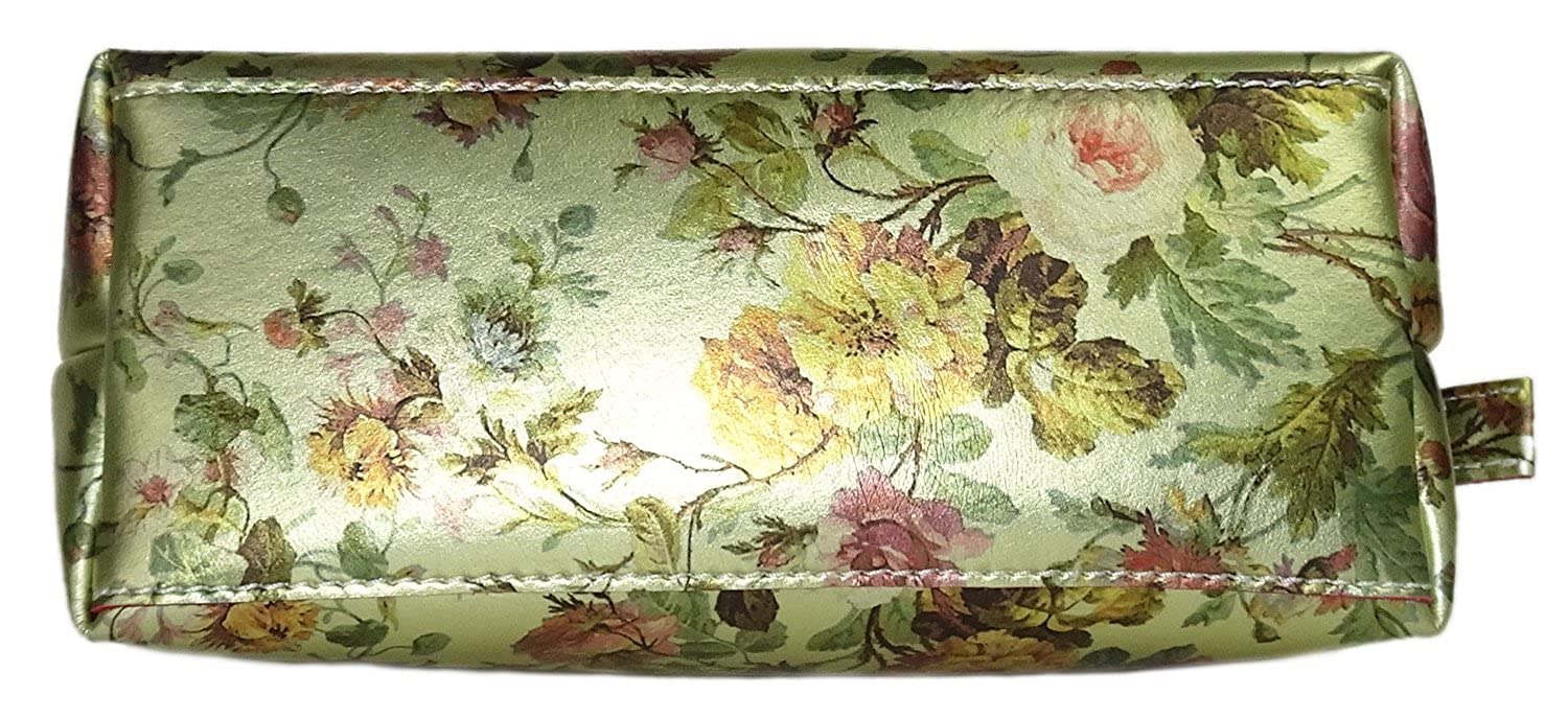 22bf96c4e6 Cavalcanti Collection Wristlet Gold Wild Rose Leather Pouch  Amazon.ca   Shoes   Handbags