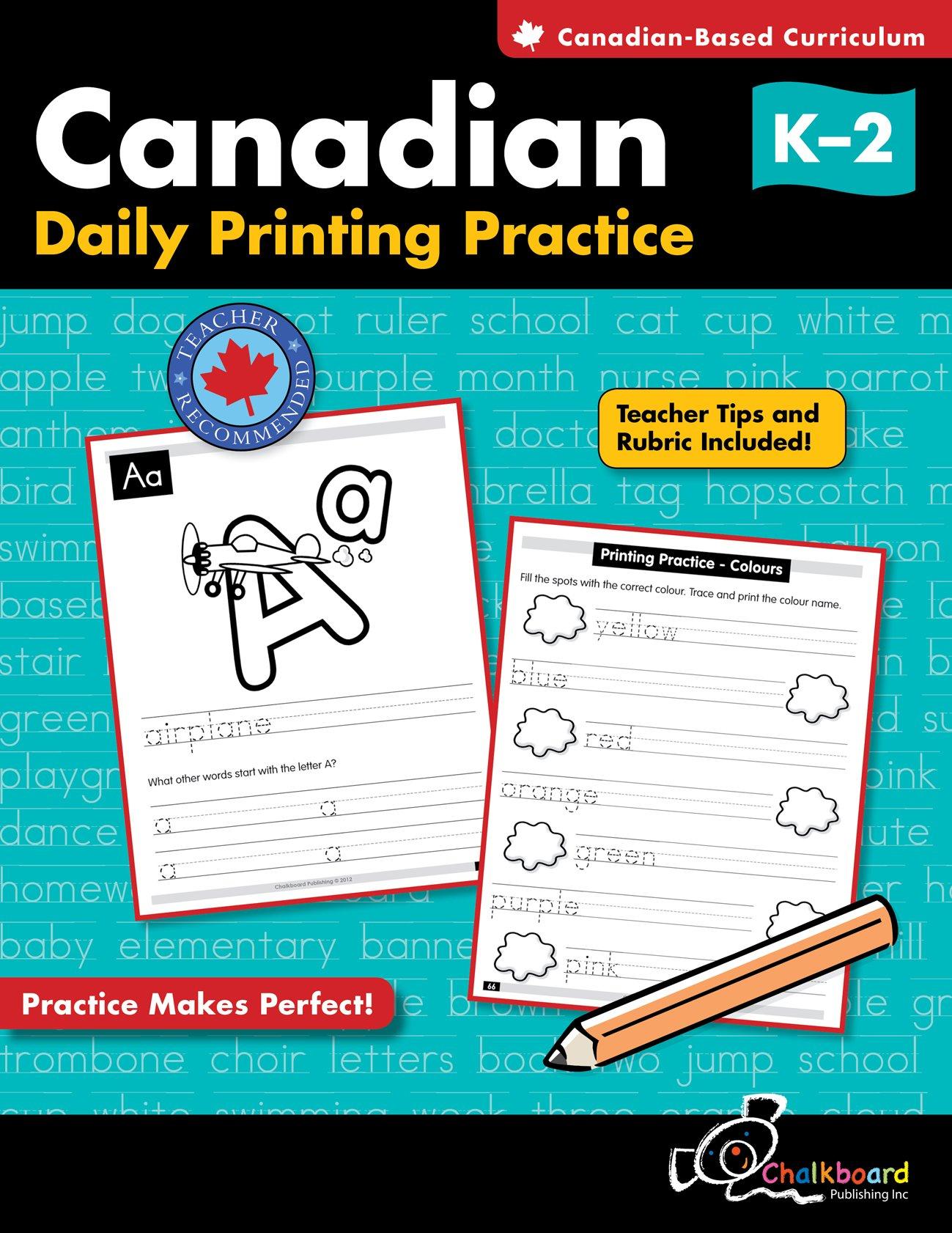 Canadian Daily Cursive Writing Practice Grades 2-4: Demetra Turnbull ...