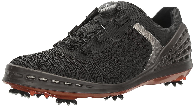 [エコー] ゴルフシューズ GOLF CAGE メンズ 26.5 cm BLACK/FIRE B01KIHN7M2