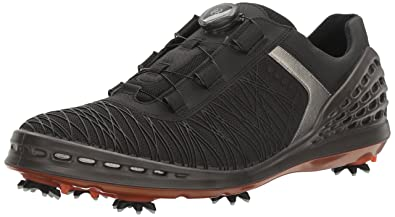 Manufacturers Supply ECCO Cage Golf Shoes Mens White/Black ECCO Mens Cleats/Golf