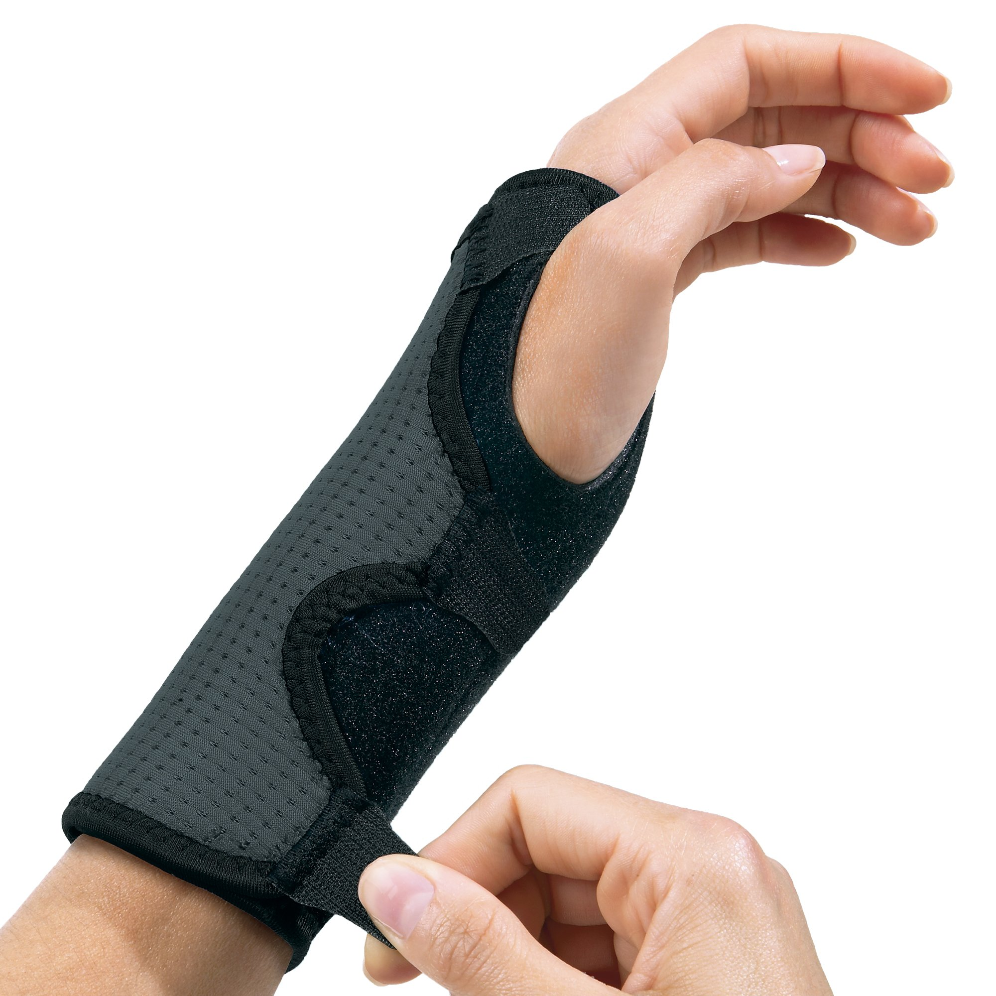 Futuro Reversible Splint Wrist Brace, Provides Support for Sore Wrists, Moderate Stabilizing Support, Adjustable, Black and Gray