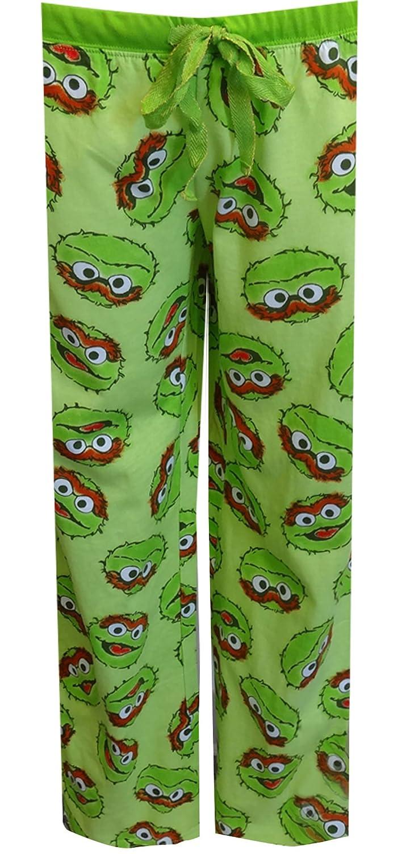 Sesame Street Women's Oscar the Grouch Green Lounge Pants (Medium) MJC W225ME305M