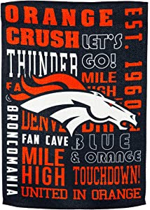 Team Sports America Denver Broncos Fan Rules Garden Flag - 13 x 18 Inches