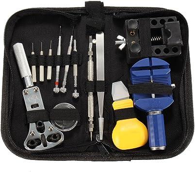 BABAN Kit Profesional de relojero (13 piezas) y sonido bolsa de nailon: Amazon.es: Bricolaje y herramientas