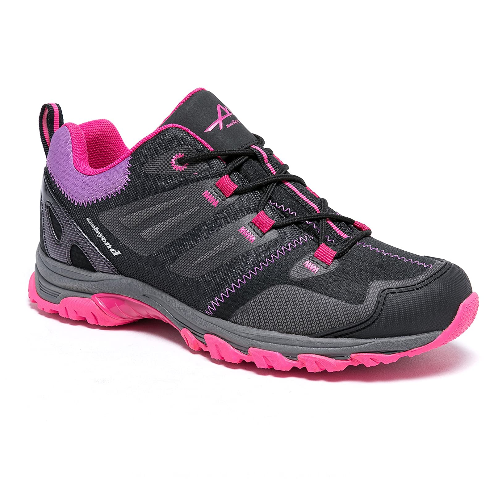 Mountbeyond Womens Waterproof Hiking Shoes Outdoor Breathable W001A - 5