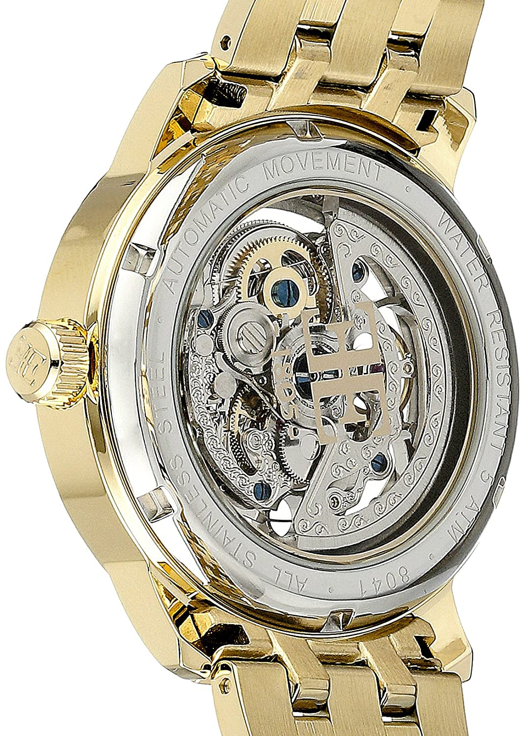 Amazon.com: Thomas Earnshaw Mens ES-8041-11 Westminster Analog Display Automatic Self Wind Gold Watch: Watches