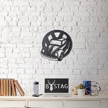 Lamodahome Décoration Murale Accessoires 100% Métal Du0027épaisseur 0,3 Cm (50  X 47 Cm) Motif Mur De Voiture Noir à Imprimé Ultramoderne ...