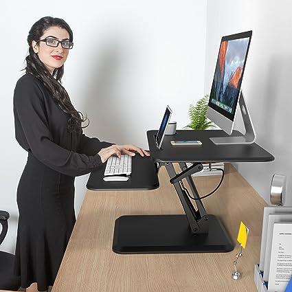 Superieur SLYPNOS Height Adjustable Standing Desk Converter Sit To Stand Up Desk  Riser   Keyboard Mouse Deck