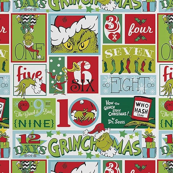 Amazon.com: El Grinch 12 Días De Navidad 2 pieza hoja de ...