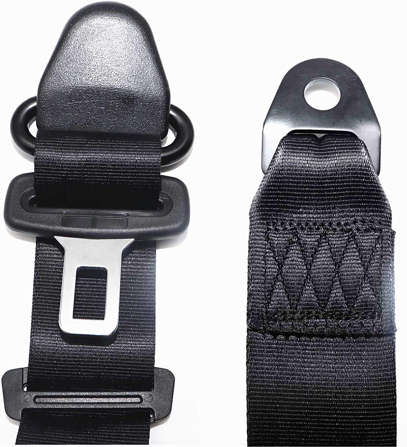 SecosAutoparts 2PCS Universal 3-Point Retractable Seat Belts Compatible with Jeep CJ YJ Wrangler 1982-1995 Three-Point universal Seat Belt for Kart Car Truck