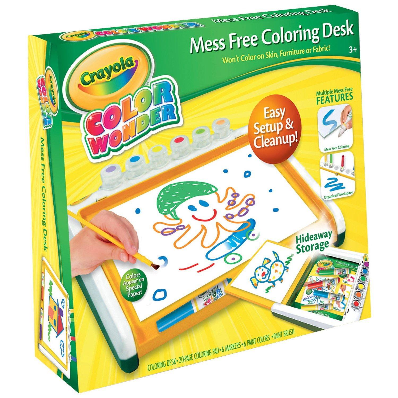 Crayola Color Wonder Mess Free Colouring Desk: Amazon.co.uk: Toys ...