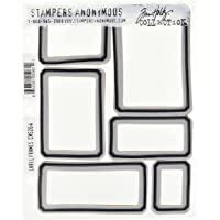 Stampers Anonymous Tim Holtz Cling Stempels 7 Inch x 8,5 Inch-Label Frames