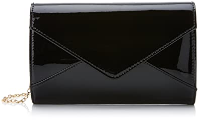 Swankyswans Womens Lena Patent Envelope Clutch Black (Black)  Amazon ... f9f365485e14a