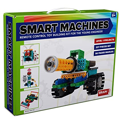 4-in-1 RC Robot Kit for Kids and Adults - STEM Toy Making Set, Building  Blocks, No Soldering Required - Model SM1702 - Tank, Race Car, Six-Legged  Bug