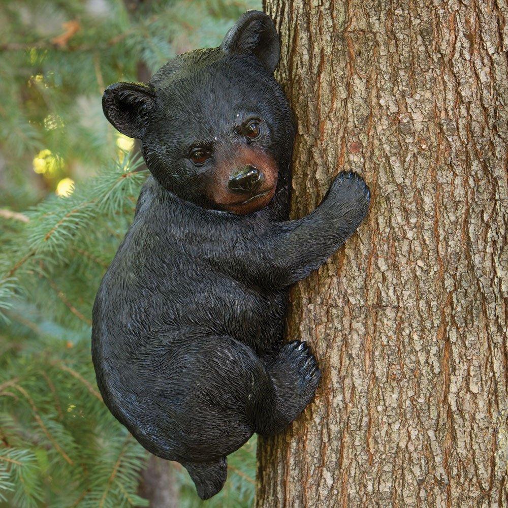 Amazon.com : Bits And Pieces   Baby Bear Up A Tree Garden Peeker   Tree  Hugger   Outdoor Tree Sculpture   Gifts And Garden Décor Tree Hugger Faces  For Trees ...