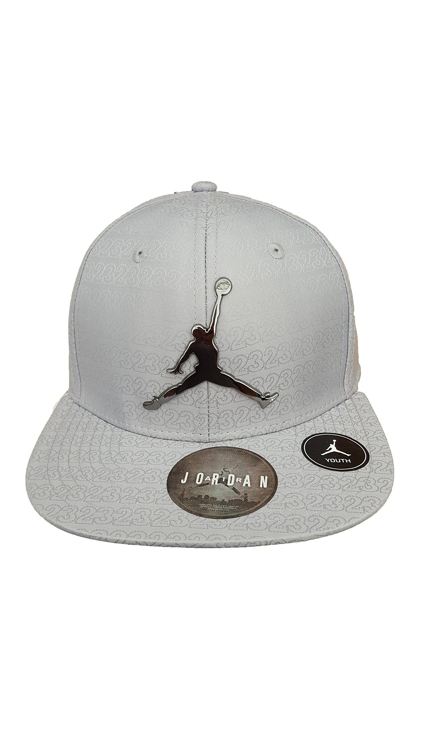 Nike Jordan Boy`s Ele Elite Jacquard Cap (8/20, Silver (109) /