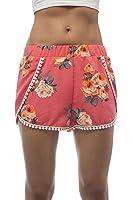 Floral Print Crochet Trim Shorts