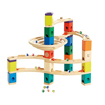 Hape Quadrilla Wooden Marble Run Construction - Whirlpool - Quality Time Playing Together Wooden Safe Play - Smart Play for Smart Families