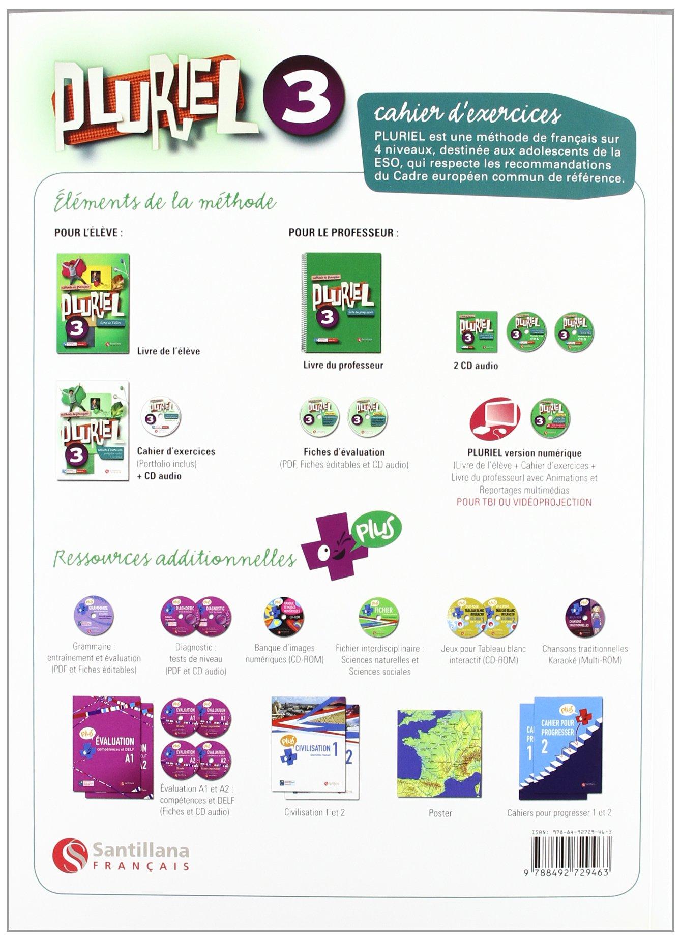 Pluriel 3 Cahier DExercices + Cd - 9788492729463: Amazon.es: Vv ...