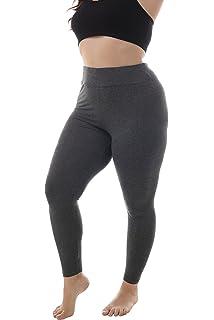 522ede8c69676 ZERDOCEAN Women's Plus Size Modal High Waist Full Length Leggings for Summer