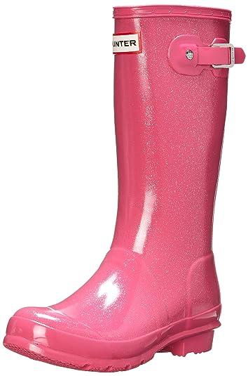 be81a52b859c Hunter Original Kids Glitter Finish Fuchsia Wellington Boots - 2 F(M) UK  Youth