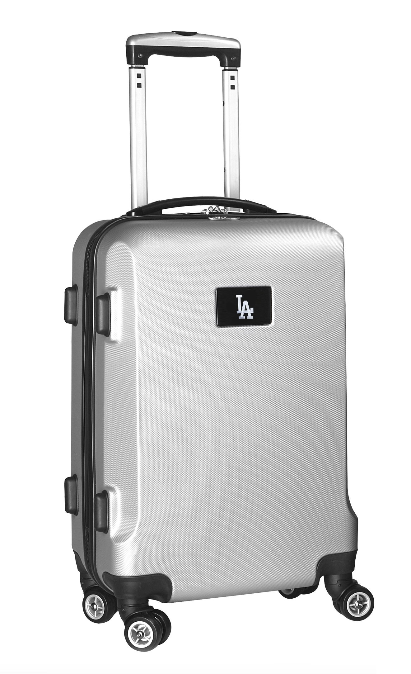 MLB Los Angeles Dodgers Carry-On Hardcase Spinner, Silver by Denco