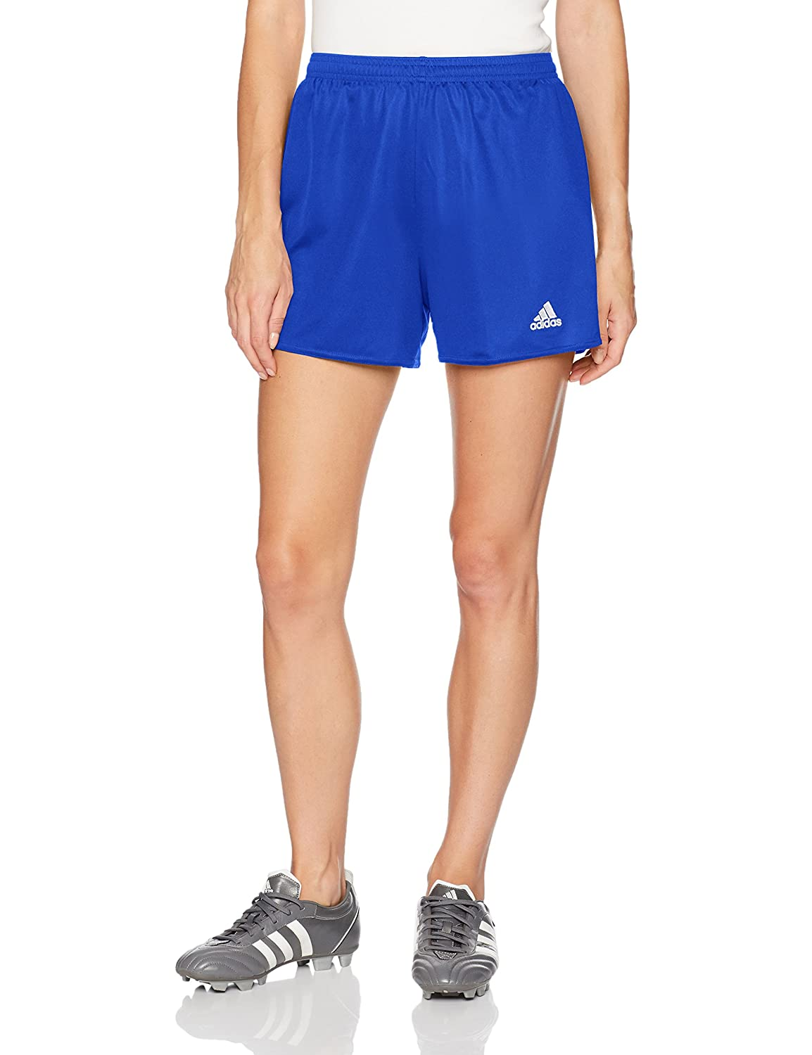 AdidasレディースサッカーParma Shorts B010DKY9KS Small|Bold Blue/White Bold Blue/White Small