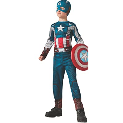 Rubies Captain America: The Winter Soldier Retro-Style Costume, Child Large: Toys & Games