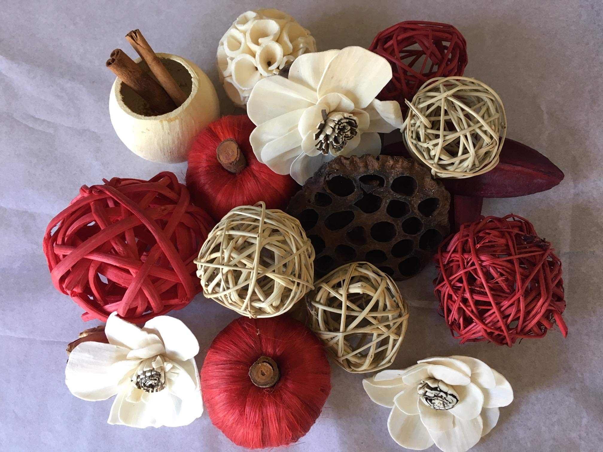 Wreaths For Door Red Rattan Decorative Spheres Natural Twig Balls and Botanical Pods Vase Or Bowl Filler Traditional to Farmhouse by Wreaths For Door