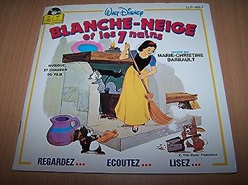 Walt Disney Presente Livre Disque Blanche Neige Et Les