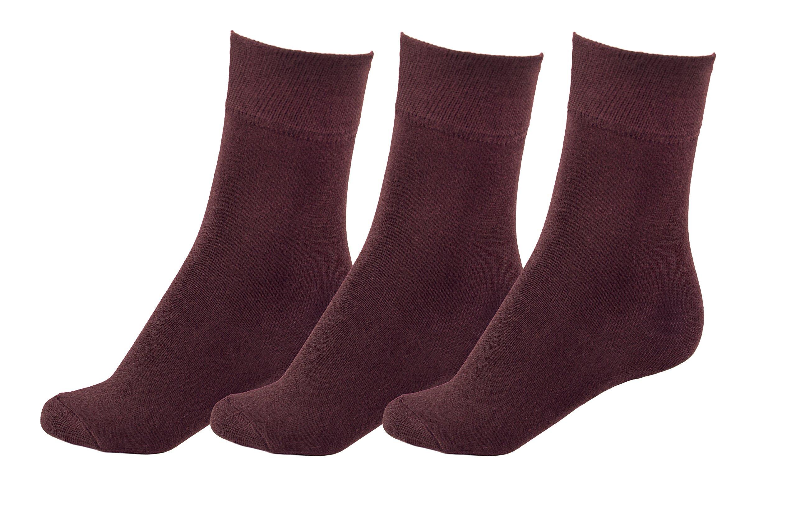 MOTIF SOCKSs All Season WOMEN's Socks Bamboo Business Casual Soft Form-Fitting Comfort Shoe Size : 6-9 (Brown)