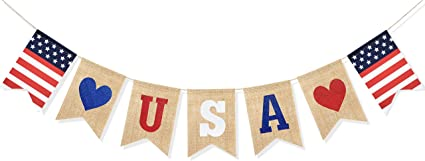 It/'s a Boy July Baby It/'s a girl banner Military Red White and Blue we love you July baby shower 4th of July Baby Shower