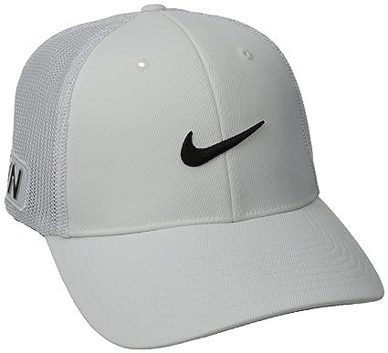 a041d6af2a62eb Amazon.com : Nike Tour Flex Fit Cap, White/Black, Medium/Large ...