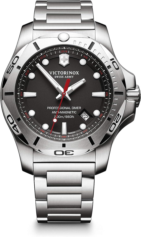 Victorinox Hombre I.N.O.X. Professional Diver - Reloj de Acero Inoxidable de Cuarzo analógico de fabricación Suiza 241781
