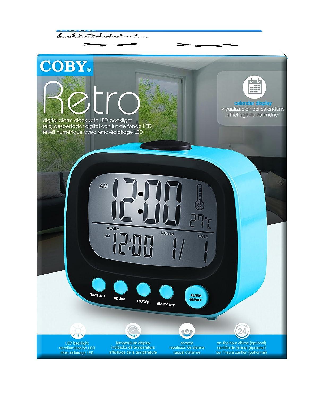 Amazon.com: Coby CBC-52-BLU Retro LCD Alarm Clock (Blue): Home Audio & Theater