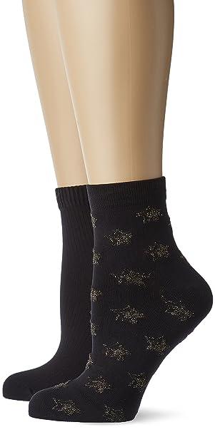 Dim Fantasía Tobilleros, Calcetines para Mujer, Negro 0hz, One Size (Tamaño del