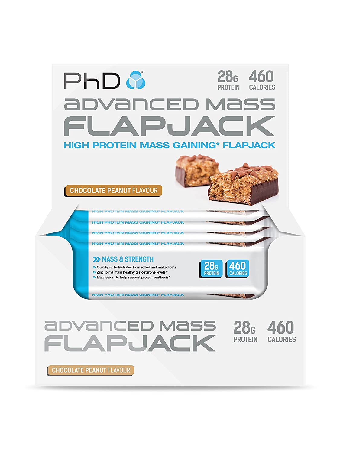 PhD Advanced Mass Flapjack Chocolate Peanut - 12 Barras ...