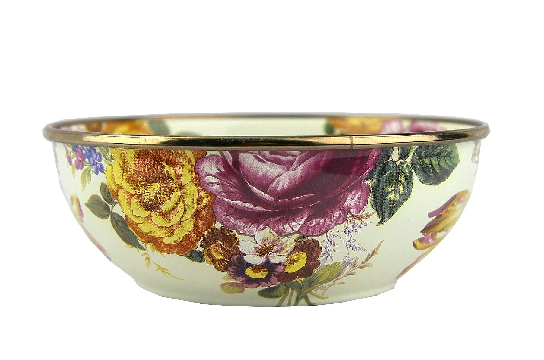 MacKenzie-Childs Flower Market Everyday Bowl 6'' dia, 2'' tall, 2 cup capacity