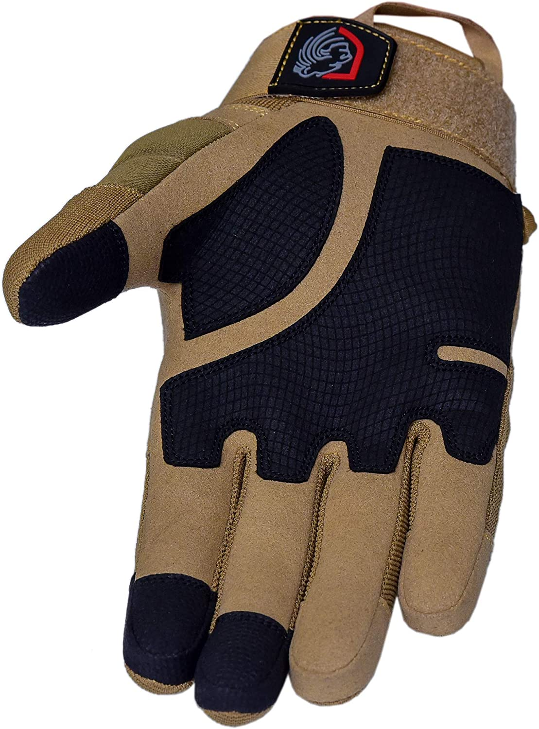 Riparo Tactical Touchscreen Gloves Military Shooting Hunting Rubber Outdoor Gloves (X-Large, Sand): Home Improvement