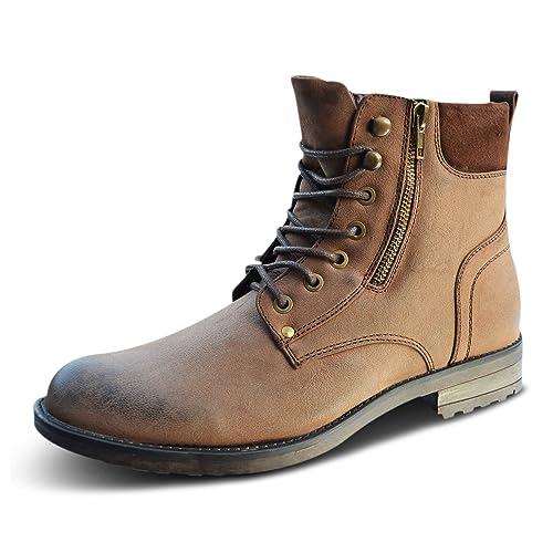 Xelay - Botines Chelsea de Sintético Hombre, Color Marrón, Talla 40 EU: Amazon.es: Zapatos y complementos