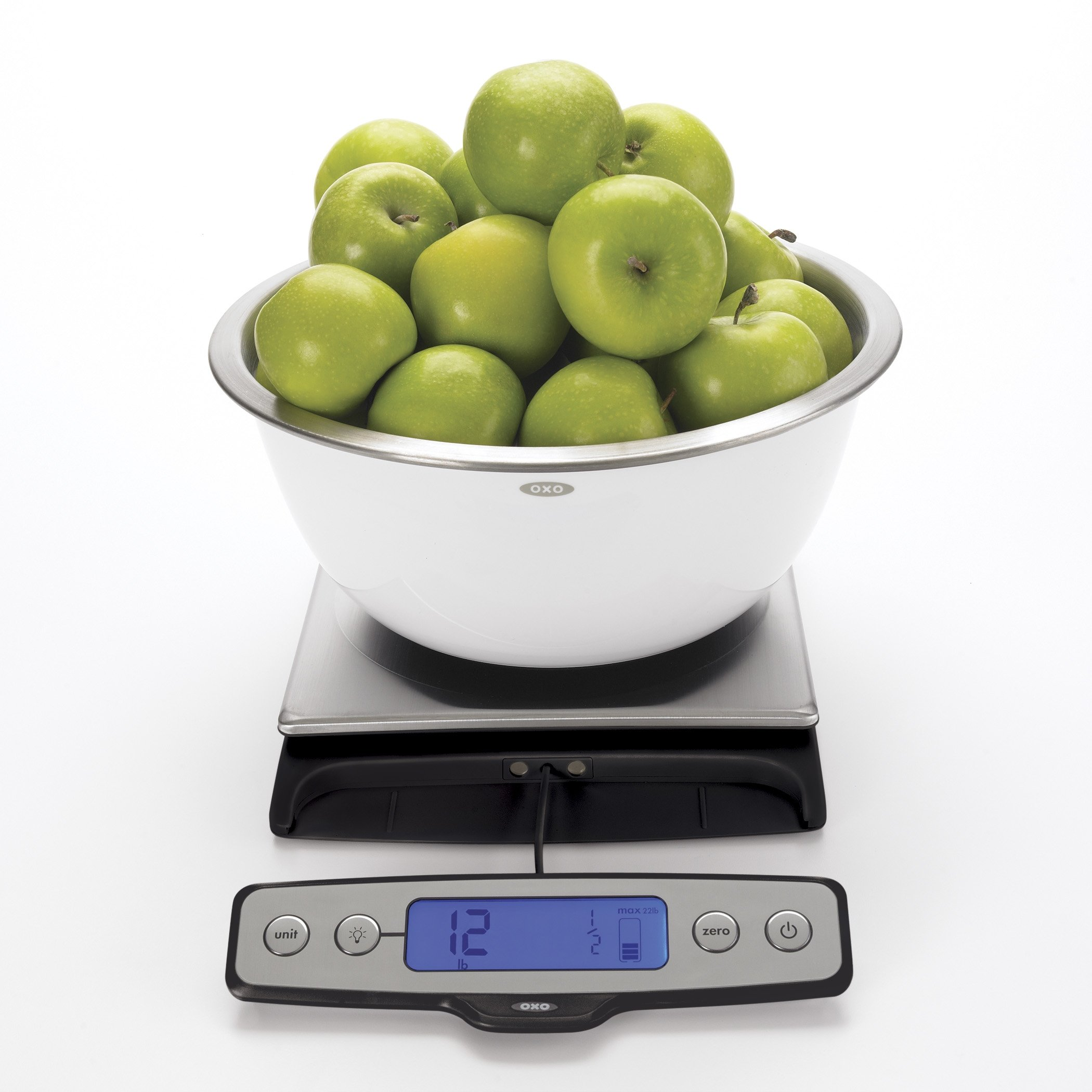 OXO Good Grips Stainless Steel Food Scale with Pull Out Display, 22-Pound
