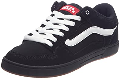a3cadd72cfb6 Image Unavailable. Image not available for. Color  Vans Baxter Black White  Gum Mens Sneakers ...