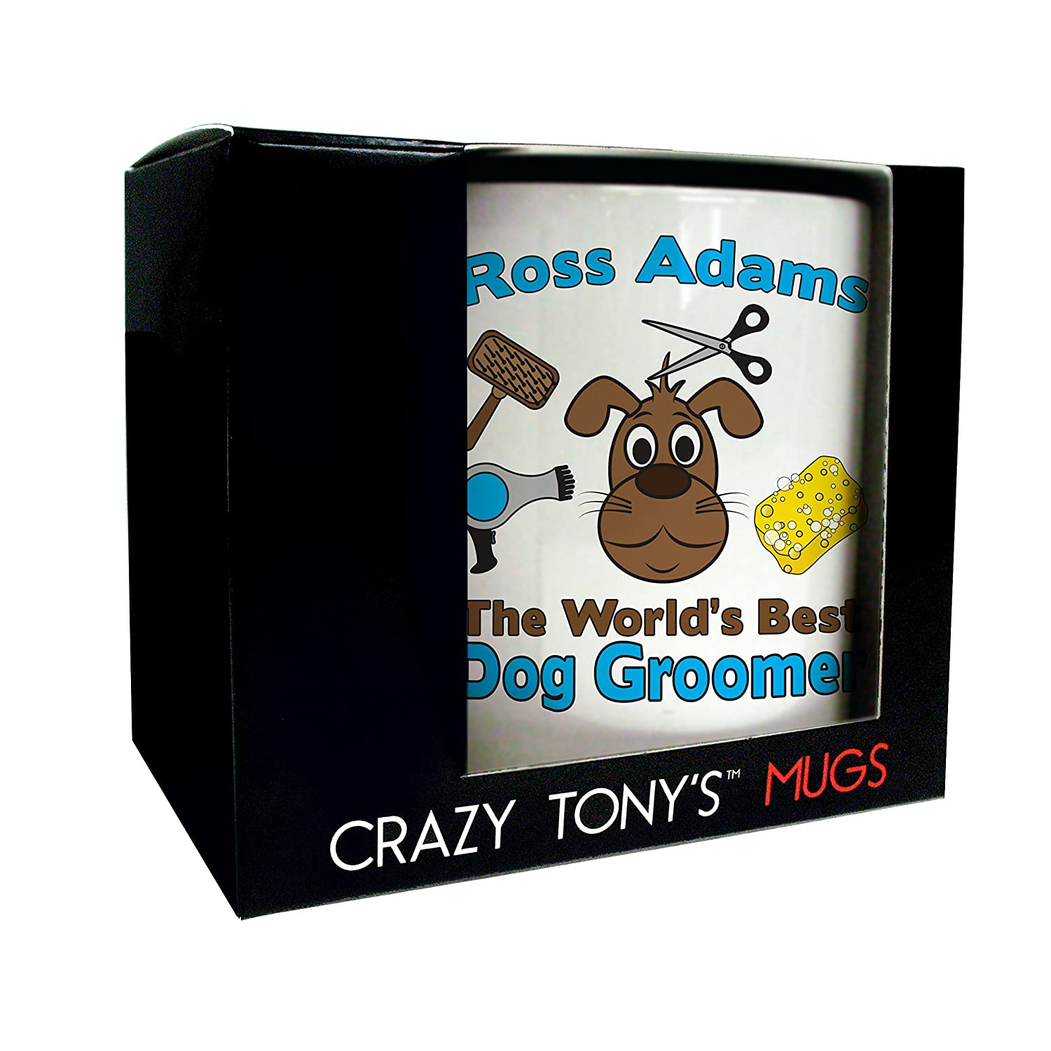 Fun Novelty Dog Groomers Mug Personalised Dog Groomer Gifts Thank You Presents by CRAZY TONY'S: Amazon.ca: Home & Kitchen