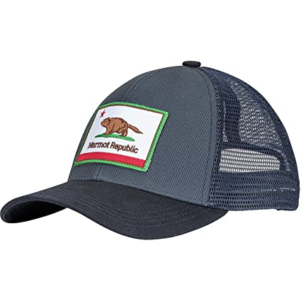 821738c0c1611 Image Unavailable. Image not available for. Color  Marmot Republic Trucker  Hat Steel Onyx ...