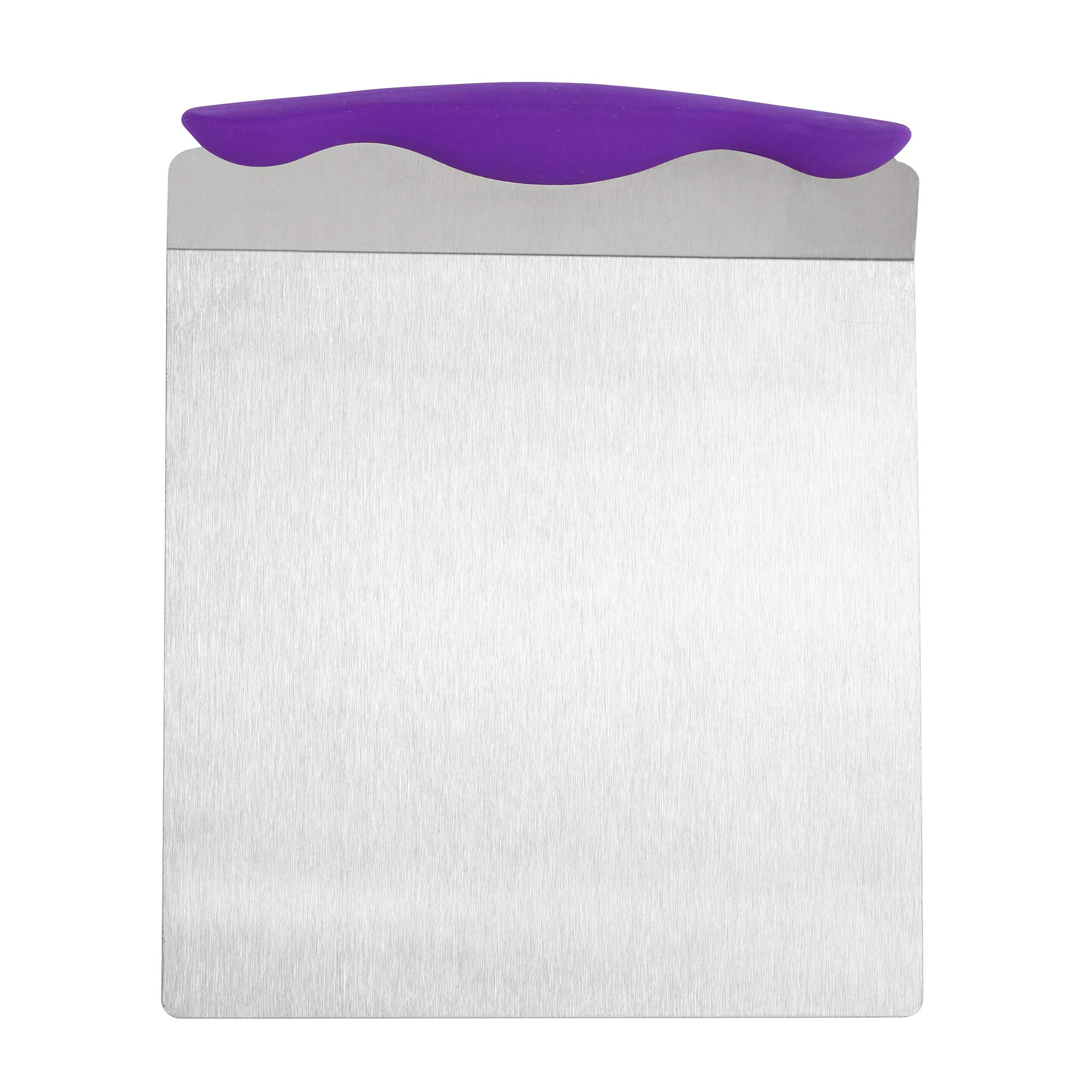 TOPHOME Kitchen Baking Cake Safe Lifter Transfer Shovel Stainless Steel Cookie Spatula Bottom Mover Scraper for Baking Homemade Pizza, Bread, Cake, Pie(Purple)