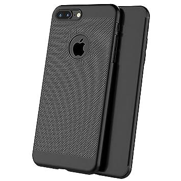 2117158fe4b iPhone 8 Plus Panal Matte Funda + Negro Protector de pantalla Cobertura  Completa,SKYEARMAN 360