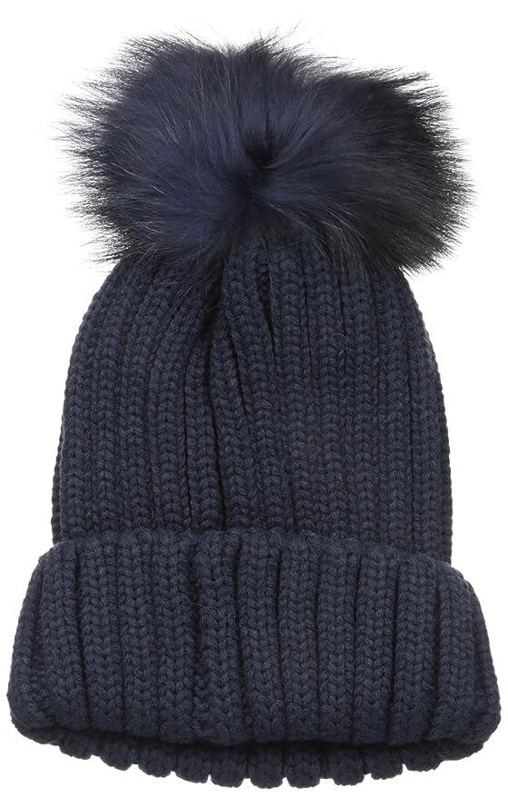 a1530c70adfb9 Amazon.com  La Fiorentina Women s Knit Beanie with Fur Pom