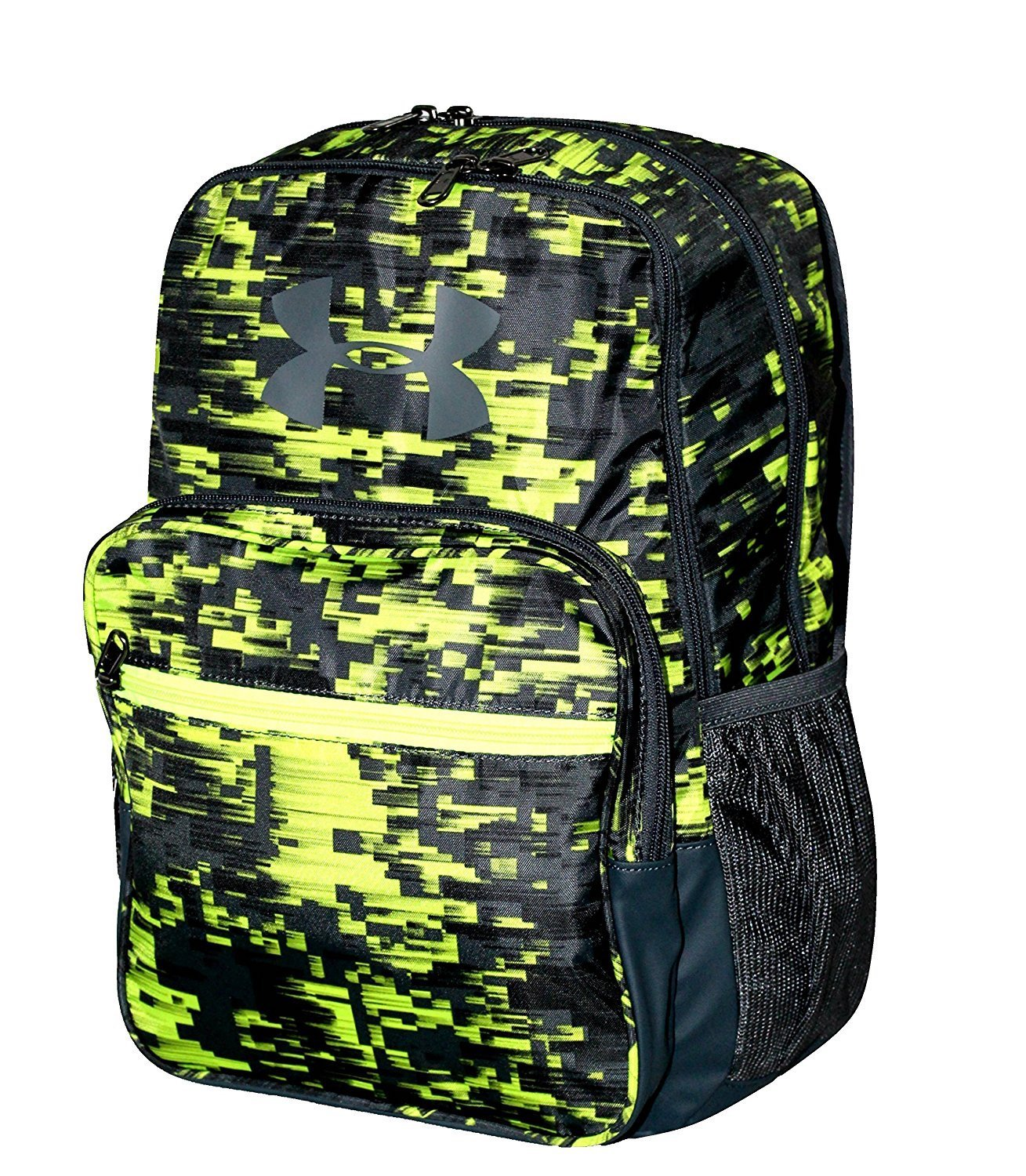 ce8e6bd3b21a Amazon.com  Under Armour HOF Youth Boys Athletic Multi purpose School  Backpack (Black green grey)  Clothing